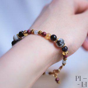 2/60$ bracelet natural jade, jasper gemstones